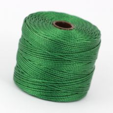 Nici nylonowe S-Lon heavy twist bead/mac cord GREEN 0,62mm/70m [szpula]