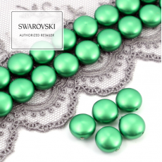 5860 Swarovski Crystal Eden Green Coin Pearl 10mm [2szt]