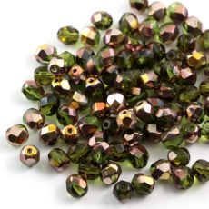 Fire Polish 6mm Copper Olivine [20szt]