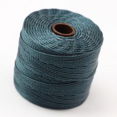 Nici nylonowe S-Lon heavy twist bead/mac cord DARK TEAL 0,62mm/70m [szpula]