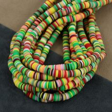 Heishi beads multi yellow 6mm [sznur 40cm]