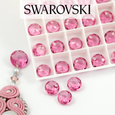 6430 Swarovski Classic Cut Pendant 8mm Rose