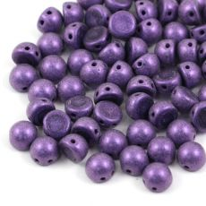 CzechMates Cabochon 7mm Metallic Suede Purple [10szt]