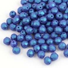 Fire Polish 6mm Alabaster Tropical Blue Grape Matte [20szt]