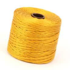 Nici nylonowe S-Lon heavy twist bead/mac cord LIGHT GOLD 0,62mm/70m [szpula]