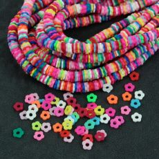 Heishi beads multikolor flowers 6mm [ok.170szt]