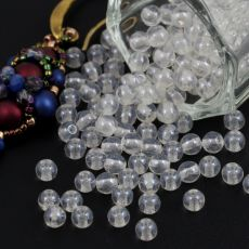 Round Beads Crystal White Luster 4mm [50szt]