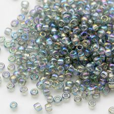 Toho Round 8/0 Transparent Rainbow Black Diamond [10g]