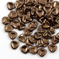 Rose Petals 8x7mm Jet Bronze [10szt]
