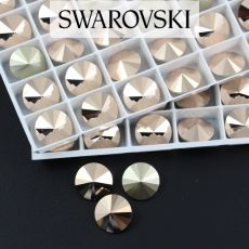 1122 Swarovski Rivoli 12mm Rose Gold