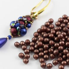 Round Beads Velvet Dark Bronze 4mm [50szt]