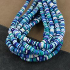 Heishi beads multi blue 6mm [sznur 40cm]