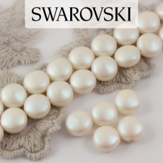 5860 Swarovski Crystal Pearlescent White Coin Pearl 10mm [2szt]