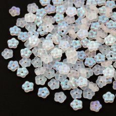 Mini Flower Beads Crystal AB Matted 5mm [50szt]