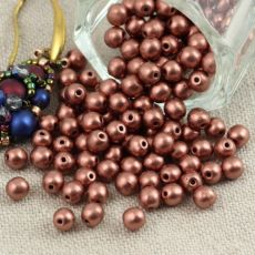 Round Beads Bronze Copper 4mm [50szt]