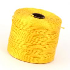 Nici nylonowe S-Lon heavy twist bead/mac cord GOLDEN YELLOW 0,62mm/70m [szpula]