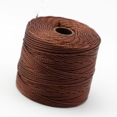 Nici nylonowe S-Lon heavy twist bead/mac cord BROWN 0,62mm/70m [szpula]
