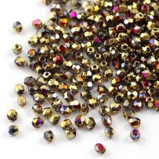 Fire Polish 3mm Crystal California Violet [40szt]