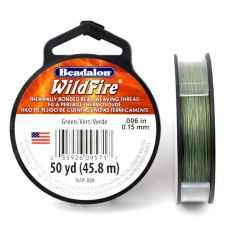 Beadalon Wildfire nić żyłkowa Green 0,15mm / 46m