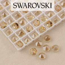 5062 Swarovski Golden Shadow Round Spike Bead 5,5mm - 1 hole [2szt]