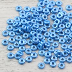 O bead donut 4x1mm Alabaster Pastel Turquoise [2,5g]