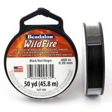 Beadalon Wildfire nić żyłkowa Black 0,20mm / 46m