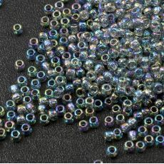 Toho Round 11/0 Transparent Rainbow Black Diamond [10g]