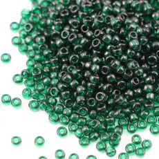 Toho Round 8/0 Transparent Green Emerald [10g]