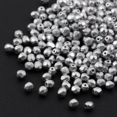 Fire Polish 4mm Aluminium Silver [20szt]