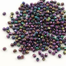 Fire Polish 2mm Iris Purple [80szt]