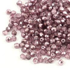 Fire Polish 3mm Crystal Labrador Solger Violet [40szt]