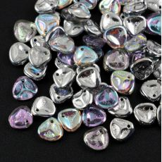 Rose Petals 8x7mm Silver Rainbow [10szt]