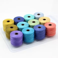 Nici nylonowe S-Lon bead cord SAND & SEA MIX 0,62mm/70m [12szt]