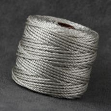 Nici nylonowe S-Lon heavy twist macrame cord LIGHT GREY 0,9mm/32m [szpula]