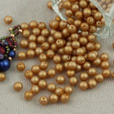Round Beads Velvet Brass 4mm [50szt]