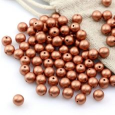 Round Beads Metallic Vintage Copper 6mm [20szt]
