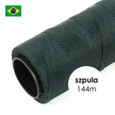 Sznurek do makramy woskowany Dark Green 1mm [szpula 144m]