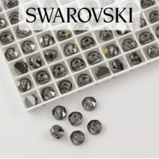 5062 Swarovski Silver Night Round Spike Bead 5,5mm - 1 hole [2szt]