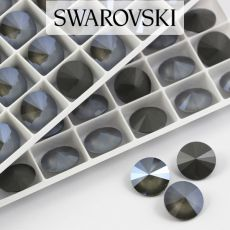1122 Swarovski Rivoli 14mm Dark Grey