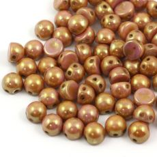 CzechMates Cabochon 7mm Opaque Luster Rose Gold [10szt]