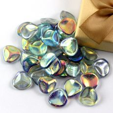 Rose Petals 14x13mm Crystal Blue Rainbow