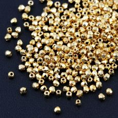 Fire Polish 2mm Crystal 24kT Gold Plated [80szt]