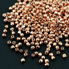 Fire Polish 2mm Crystal Copper Plated [80szt]