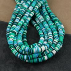 Heishi beads mix green 6mm [sznur 40cm]