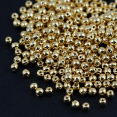 Round Beads 24kT Gold Plated 3mm [50szt]