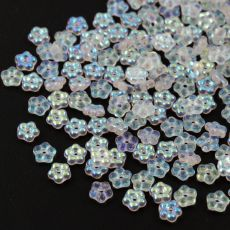 Mini Flower Beads Crystal AB 5mm [50szt]