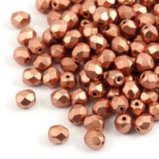 Fire Polish 6mm Metallic Copper [20szt]