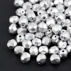 Fire Polish 6mm Aluminium Silver [20szt]