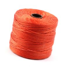 Nici nylonowe S-Lon heavy twist bead/mac cord ORANGE 0,62mm/70m [szpula]