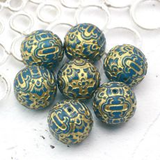 Vintage beads kula Gold Capri 20mm